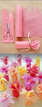how to use tissue paper in a gift box fill a toilet paper roll with candy and then wrap pink tissue