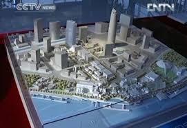 oriental dreamworks under construction in shanghai cctv news
