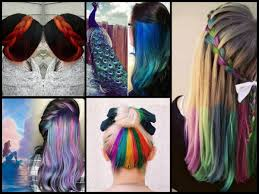 trend colors hair color trends hidden hair color peekaboo hair color