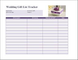 free gifts for wedding registry wedding gift list template free formal word templates