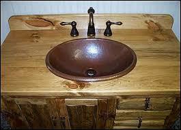 Log Vanity Photo Of Top View Rustic Bathroom Vanity Rustic Southwestern