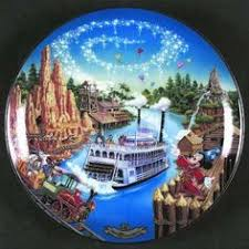 25th anniversary plates collector point plate item liberty square disney world 25th