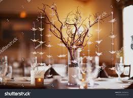 Wedding Table Setting Wedding Table Setting Nature Theme Bonsai Stock Photo 130000925