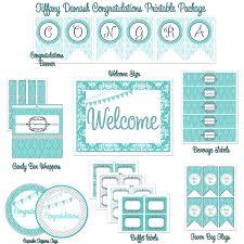 tiffany blue u0026 silver congratulations printable party package diy