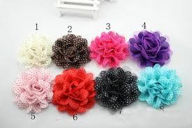 flower headbands diy baby chiffon lace flowers diy fabric flower for kids