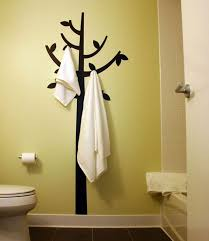 bathroom towel decorating ideas bathrooms bathroom decor with decal towel hooks and white towels