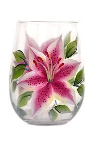 stargazer lilly stargazer lilies stemless wine glass wineflowers