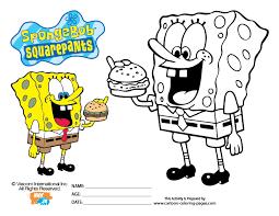 Squarepants Coloring Sheets Coloring Pages Sponge Bob