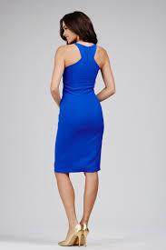 jovani 26414 halter neckline knee length party dress