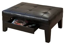 Square Leather Storage Ottoman Coffee Table by Sofa Leather Ottoman Round Ottoman Upholstered Ottoman Coffee