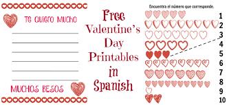 free valentine u0027s day printables in spanish ladydeelg