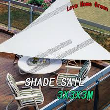 Outdoor Patio Sun Shade Sail Canopy by Aliexpress Com Buy Waterproof Triangular Patio Sun Shade Sail