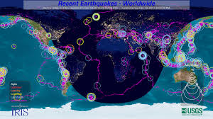 Earthquake Map Usgs Public Displays Resources Iris