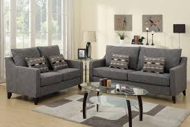 Fabric Living Room Chairs Avery Grey Fabric Sofa And Loveseat Set Furniture Living