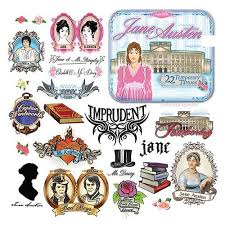 jane austen temporary tattoo set accoutrements historical