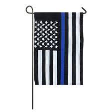 Decorative Garden Flags Thin Blue Line 12in X18in Garden Flag