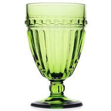 bicchieri verdi pois confezione 6 calici verdi