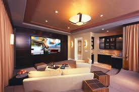Home Theater As Addition To Large Modern Interior Small Design Ideas - Living room with home theater design