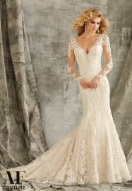 morilee bridal embroidered lace appliques on net trimmed with