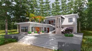 sketchup model modern villa design 15 lumion render youtube