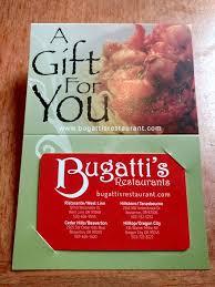 restaurants gift cards gift cards bugatti s restaurant
