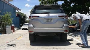 toyota fortuner rear bumper cover installation guide youtube