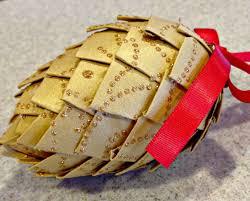 paper pinecone ornament
