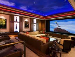 Media Game Room - living room amazing living room and home theatre in sport theme