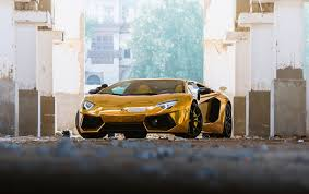 gold color cars picture lamborghini aventador roadster luxury gold color cars front