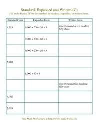 expanded form standard form worksheets and printables 3rd 4th