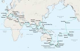 map world seas 7 seas luxury world cruise serenity world cruise january