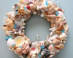 seashell wreath decor seashell wreath nautical decor shell wreath coastal