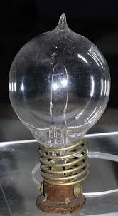 in 1879 thomas edison invented the electric light bulb this is a