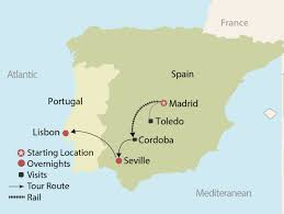 Cordoba Spain Map by Patterns Of Spain U0026 Portugal