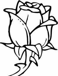 coloring pages rose flower coloring