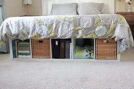 Build A Platform Bed With Storage Underneath by Creative Under Bed Storage Ideas For Bedroom