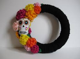 day of the dead home decor modern cozy finish it up friday day of the dead wreath