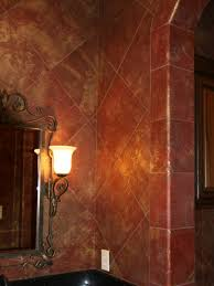 leather walls powder room leather walls