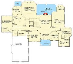 5 bedroom floor plans luxury 5 bedroom house plan 13438by architectural designs