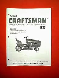 100 craftsman lawnmower manuals sears lawn tractor owner s