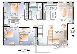 Affordable Houses To Build House Plan W3128 V1 Detail From Drummondhouseplans Com Reverse