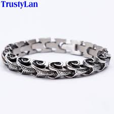 mens bracelet steel images Trustylan cool stainless steel dragon grain bracelets men new jpg
