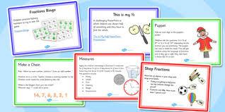 ks1 fraction starter ideas pack ks1 starter ideas fraction