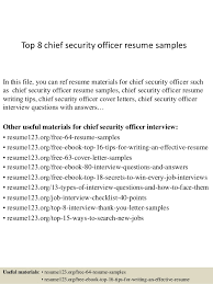 Sample Resume For Security Guard Position by Top 8 Chief Security Officer Resume Samples 1 638 Jpg Cb U003d1428500164