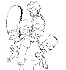 family simpsons coloring pages print coloring pages free