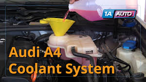 audi a4 drain how to properly drain and refill coolant 2004 08 audi a4