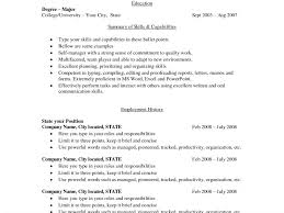 Sample Resume Bullet Points by Grand Simple Sample Resume 16 Example Of Simple Resume Format