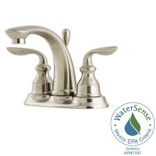 pfister avalon 4 in centerset 2 handle bathroom faucet in brushed