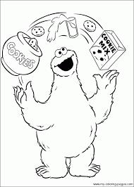 cookie monster coloring mediafoxstudio