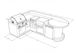 bbq outdoor kitchen islands matchless outdoor bbq kitchens islands plans with l shape design